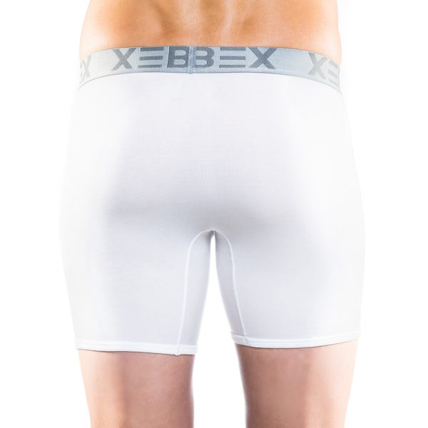 Xebex Modal Boxer Brief Back View White