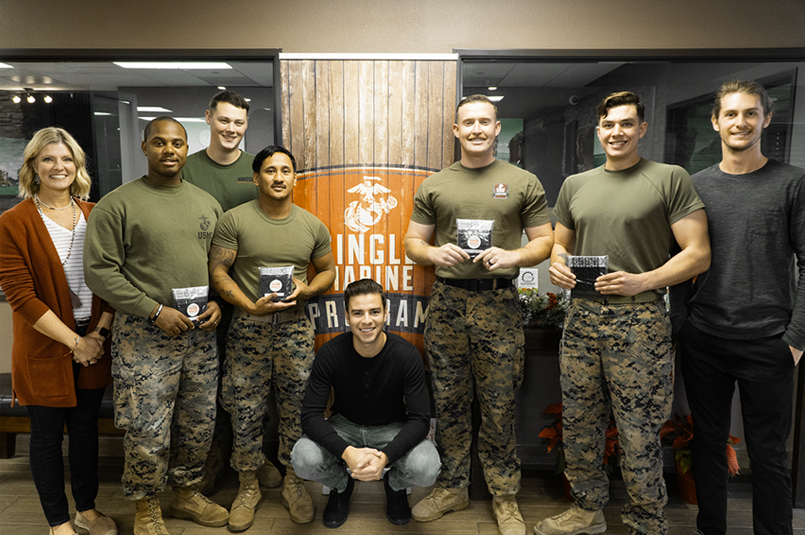 Xebex team gives underwear to single marine program