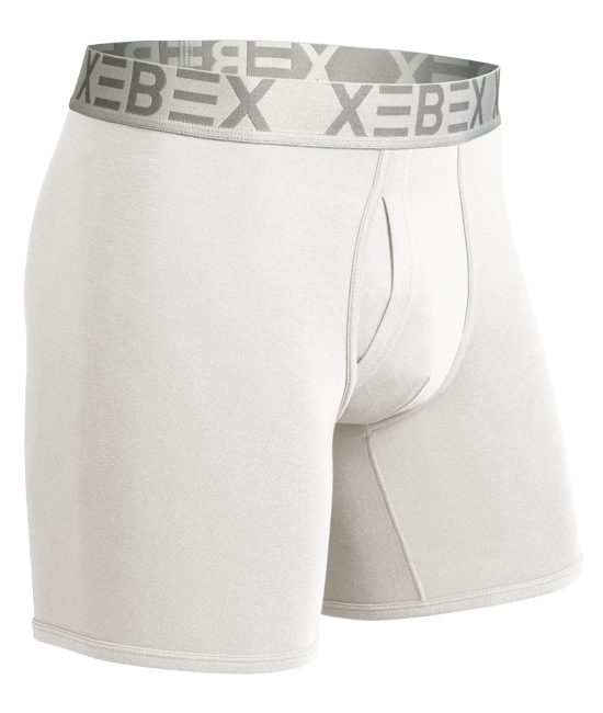 Xebex Modal Boxer Brief Ghost Mannequin Image white