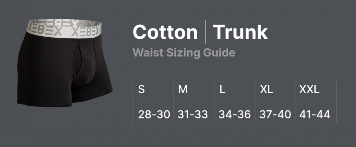 Xebex Cotton Trunk Fit Guide