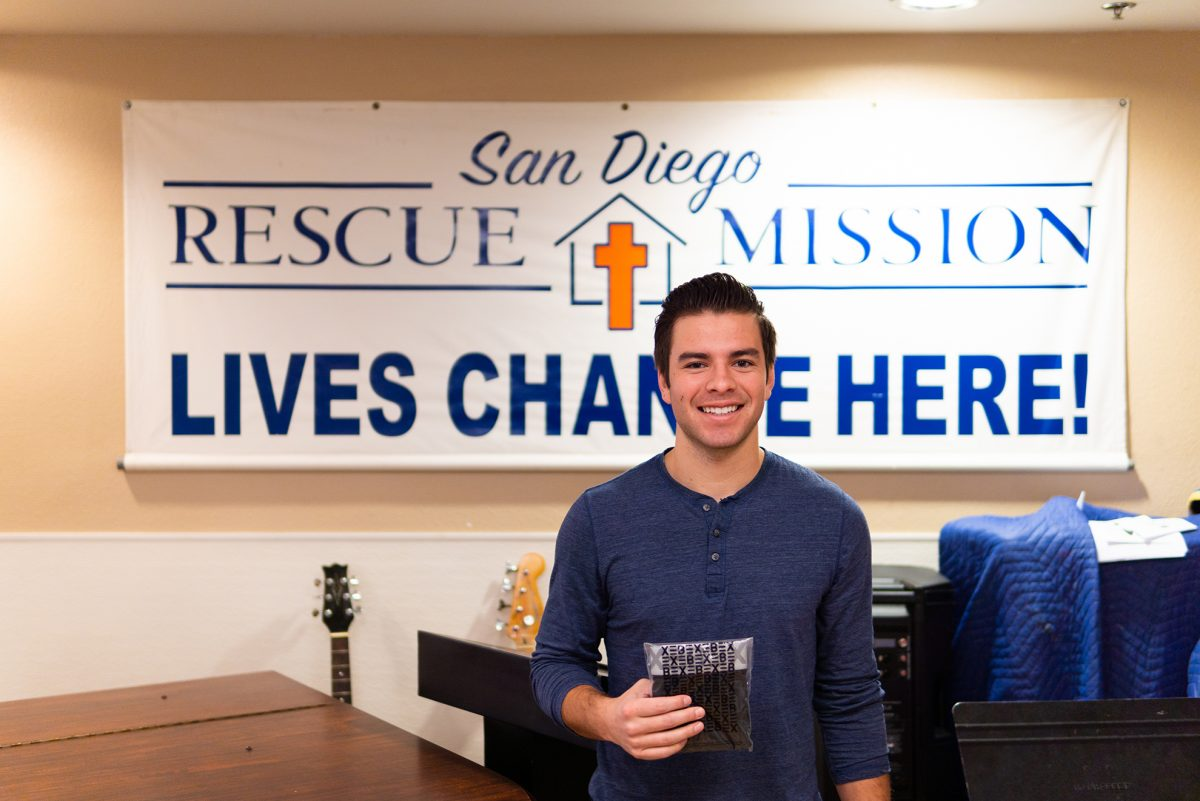 Xebex Mission to Give Underwear Away - San Diego Resue Mission with TJ